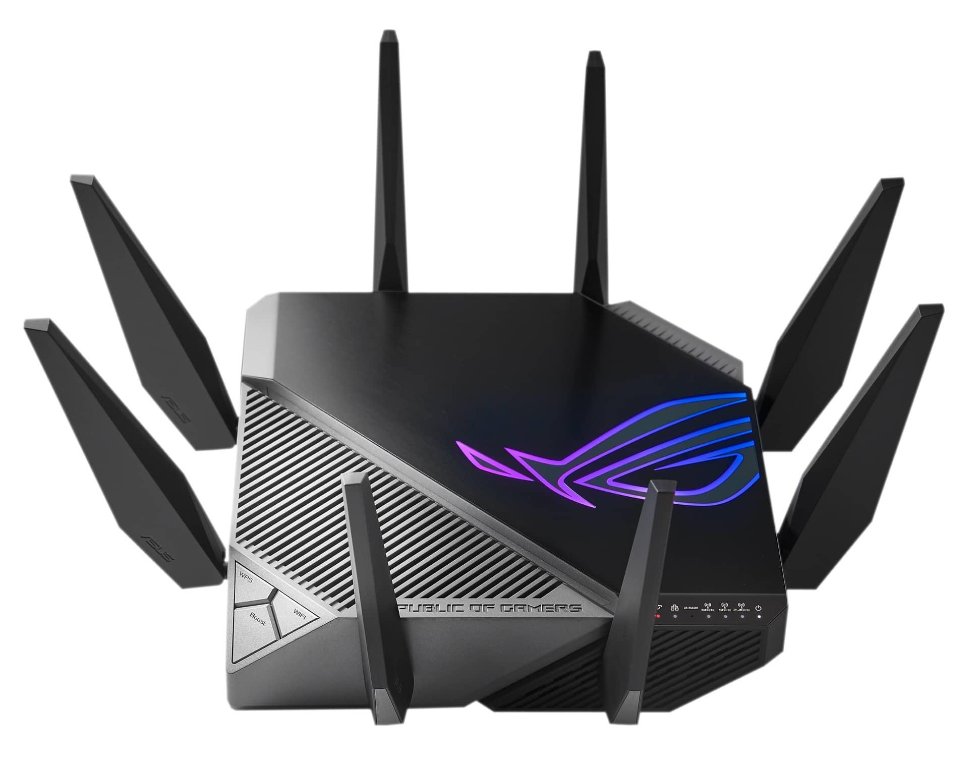 ASUS ROG ra mắt router Rapture GT-AXE11000 trang bị Wi-Fi 6E đầu tiên trên thế giới